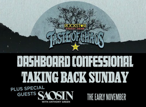 Taste of Chaos: Dashboard Confessional, Taking Back Sunday, Saosin & The Early November at MidFlorida Credit Union Amphitheatre