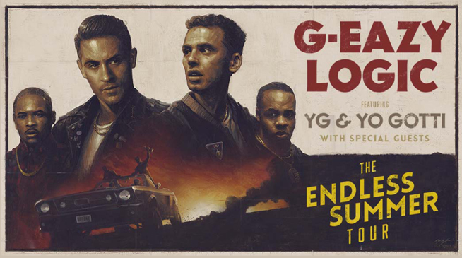 G-Eazy, Logic, Yo Gotti & YG at MidFlorida Credit Union Amphitheatre