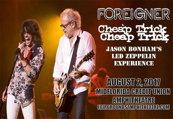 Foreigner, Cheap Trick & Jason Bonham's Led Zeppelin Experience at MidFlorida Credit Union Amphitheatre
