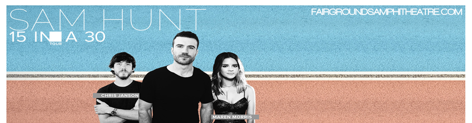 Sam Hunt, Maren Morris & Chris Janson at MidFlorida Credit Union Amphitheatre