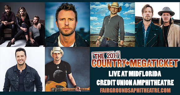 2017 Country Megaticket Tickets (Includes All Performances) at MidFlorida Credit Union Amphitheatre