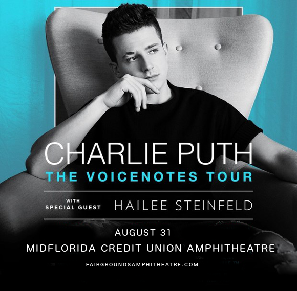 Charlie Puth & Hailee Steinfeld at MidFlorida Credit Union Amphitheatre