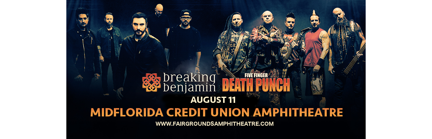 Five Finger Death Punch & Breaking Benjamin at MidFlorida Credit Union Amphitheatre