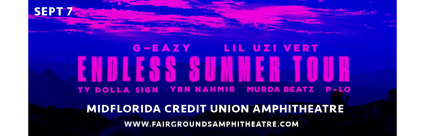 G-Eazy, Ty Dolla Sign & Lil Uzi Vert at MidFlorida Credit Union Amphitheatre