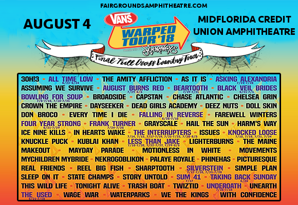 Vans Warped Tour at MidFlorida Credit Union Amphitheatre