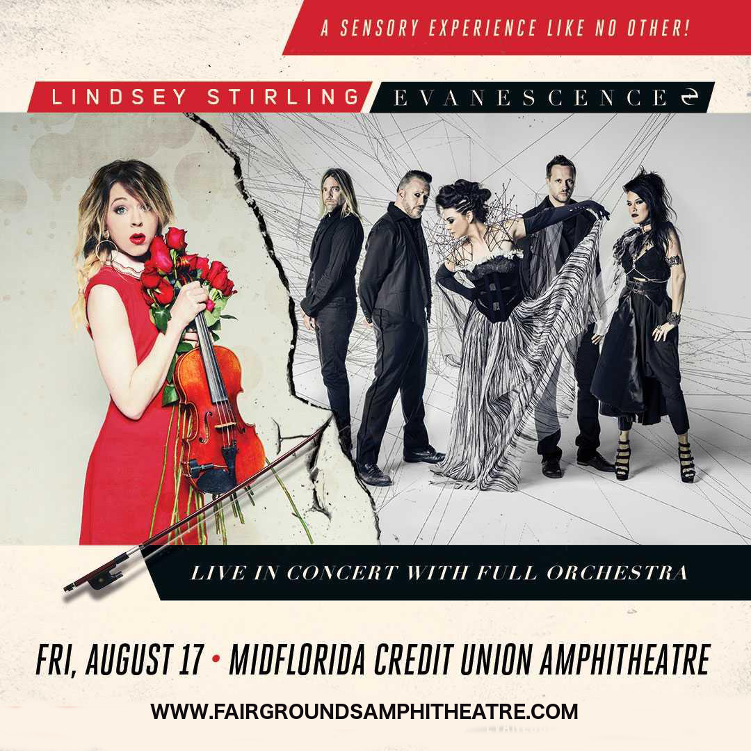 Lindsey Stirling & Evanescence at MidFlorida Credit Union Amphitheatre