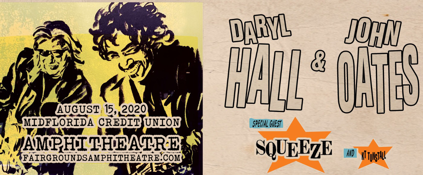 Hall and Oates, KT Tunstall & Squeeze at MidFlorida Credit Union Amphitheatre