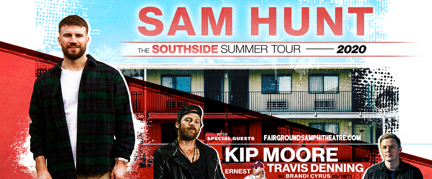 Sam Hunt, Kip Moore & Travis Denning at MidFlorida Credit Union Amphitheatre