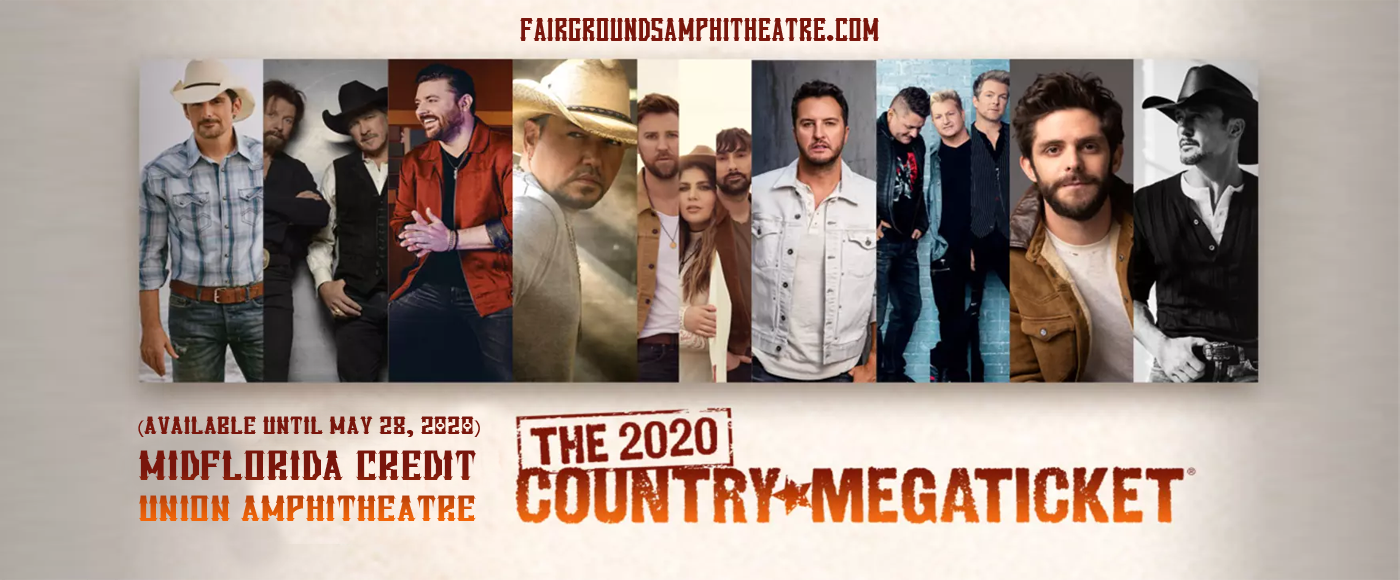 Country Megaticket (Includes Tickets To All Performances) at MidFlorida Credit Union Amphitheatre