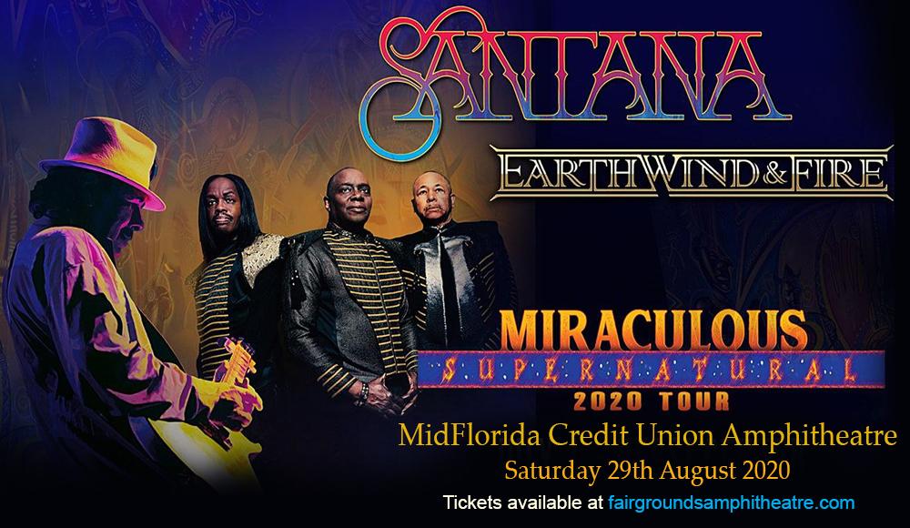 Santana & Earth, Wind and Fire [POSTPONED] at MidFlorida Credit Union Amphitheatre