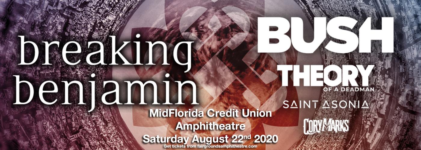 Breaking Benjamin & Bush [CANCELLED] at MidFlorida Credit Union Amphitheatre