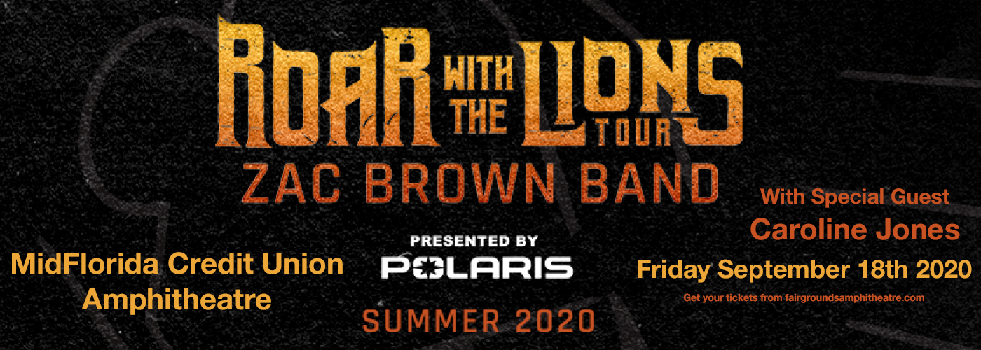 Zac Brown Band [CANCELLED] at MidFlorida Credit Union Amphitheatre