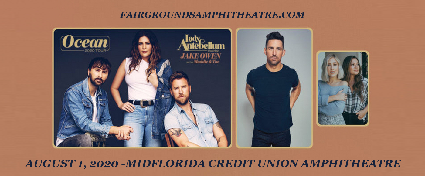 Lady Antebellum, Jake Owen & Maddie and Tae [CANCELLED] at MidFlorida Credit Union Amphitheatre