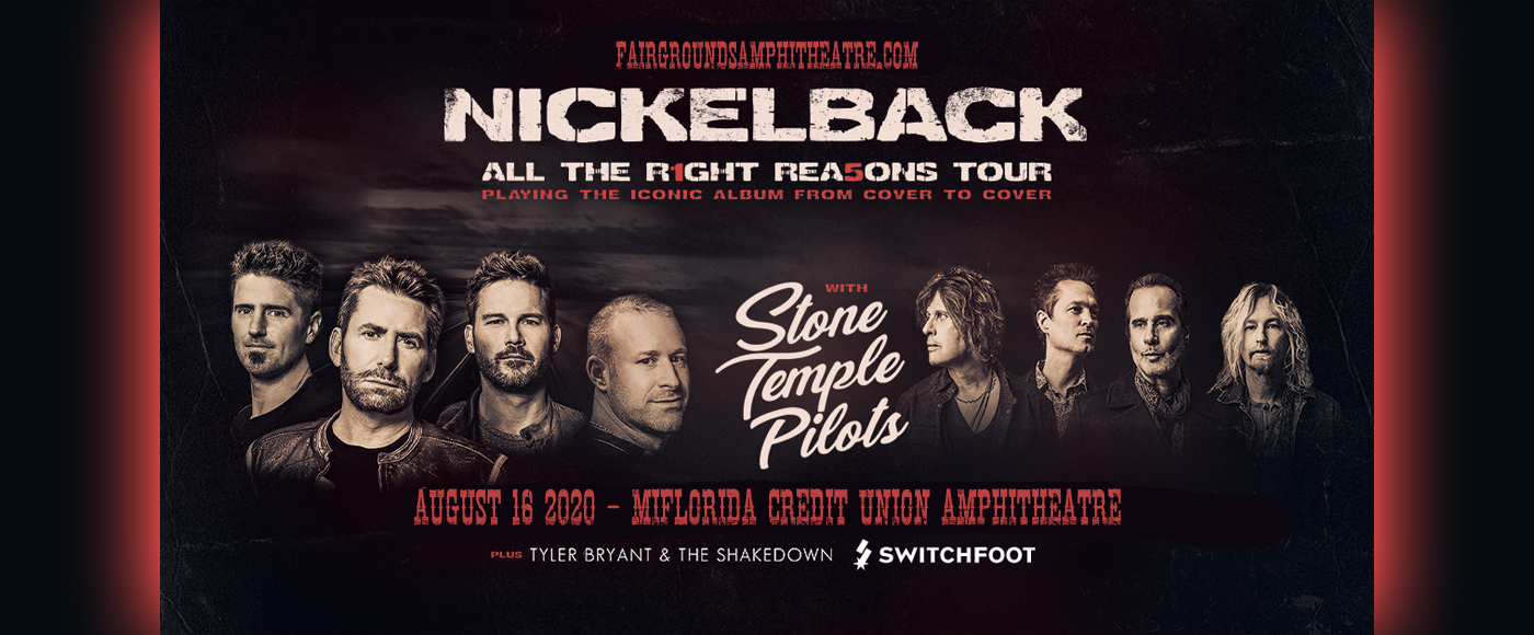 Nickelback, Stone Temple Pilots & Switchfoot [CANCELLED] at MidFlorida Credit Union Amphitheatre