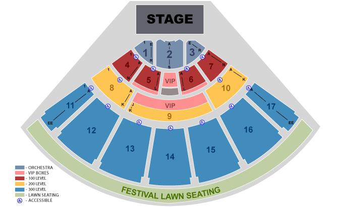 Midflorida Credit Union Amphitheatre Seating Chart