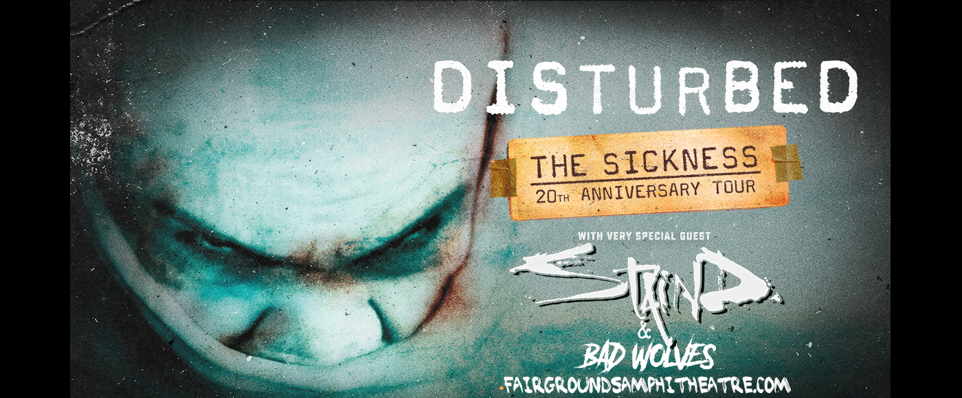 Disturbed, Staind & Bad Wolves [CANCELLED] at MidFlorida Credit Union Amphitheatre